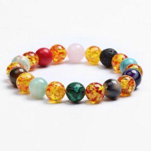 6 Chakra Bracelet Unisex – 11 Natural Stones