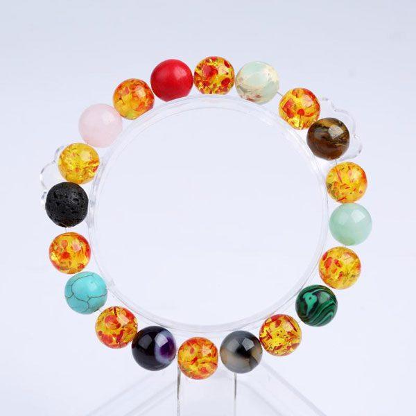 6 Chakra Bracelet Unisex - 11 Natural Stones