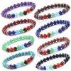 7 Chakra Bracelet Unisex Beads Natural Stone - Healing Balance
