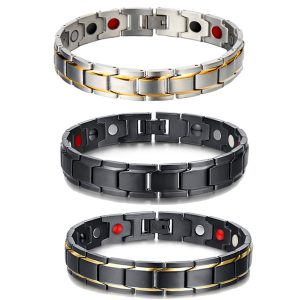 Bio Magnetic Bracelet For Man Stainless Steel
