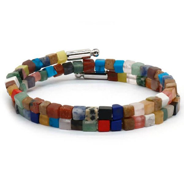 Boho Natural Stone Bracelet - Colorful Women