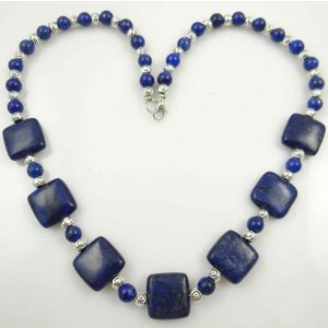Chain Gem Jewelry Necklace For Women – Lapis Lazuli