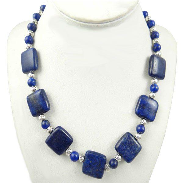 Chain Gem Jewelry Necklace For Women - Lapis Lazuli A