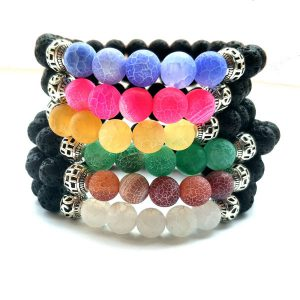 Yoga Jewelry Multicolor Beads Stone Bracelet