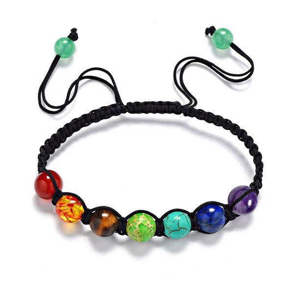 7 Chakra Yoga Energy Natural Stone Beads Unisex Rope