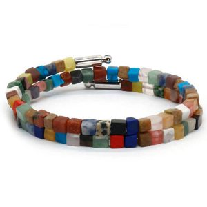 Boho Natural Stone Bracelet – Colorful Women