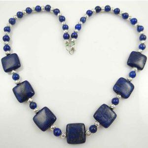 Chain Gem Jewelry Necklace For Women – Lapis Lazuli