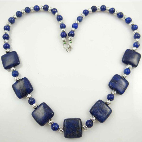Chain Gem Jewelry Necklace For Women - Lapis Lazuli