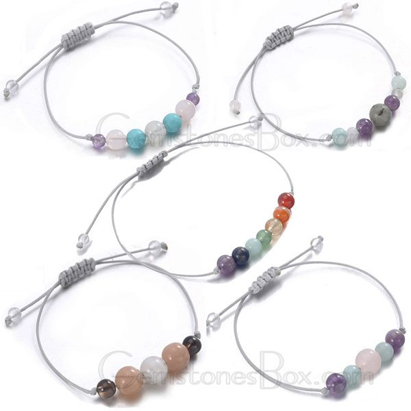 Mutil Color Bracelet With Natural Stones